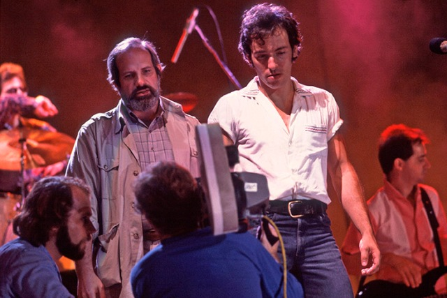 CHICAGO, IL  - JUNE 27: Brian DePalma and Bruce Springsteen  at the filming of the video for Dancing in the Dark on 6/27/84 at the St. Paul Civic Center in St. Paul, Mn.  (Photo by Paul Natkin/WireImage)