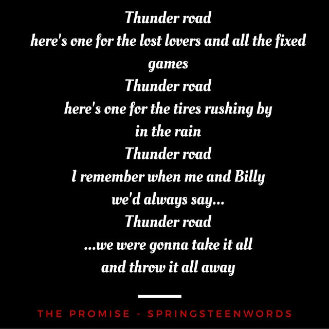 Thunder roadhere's one for the lost lovers and all the fixed gamesto live forever,but to createsomethingthat will.